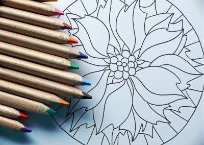 Atelier détente : croquis, coloriage, mandala